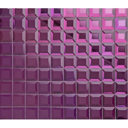 purple crystal glass mosaic tile mirror tile wall backsplashes pyramid patterns bathroom tile shower designs KLGT1208