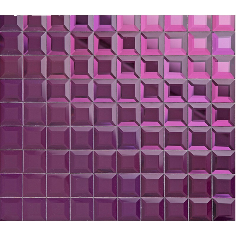 Purple crystal glass mosaic tile mirror tile wall for Purple bathroom tiles ideas