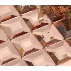 crystal glass mosaic tile mirror tile wall backsplashes mirrored mosaic tile pyramid patterns KLGT924