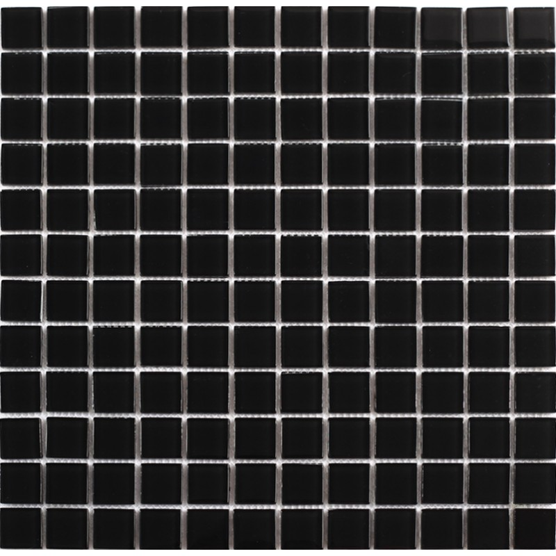 Black Glass Mosaic Shower