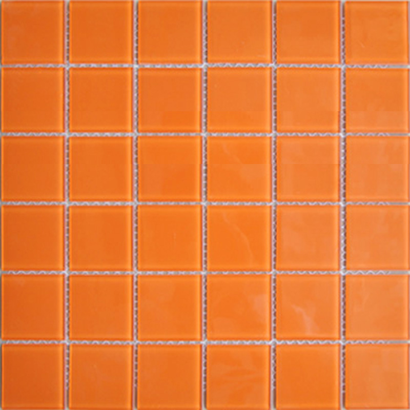 Wholesale Orange Crystal Glass Mosaic Tiles Kitchen