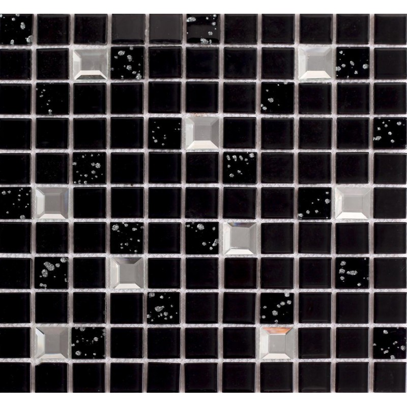 Wholesale black crystal glass mosaic tile washroom for Mirror tiles