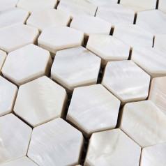Mother of Pearl Shell Tile Backsplash Hexagon Fresh Water Seashell Mosaic Bathroom Wall Sticker
