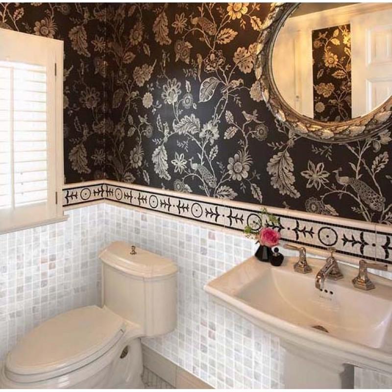 Shell tiles kitchen backsplash tile mother of pearl mosaic for Mosaic bathroom decor