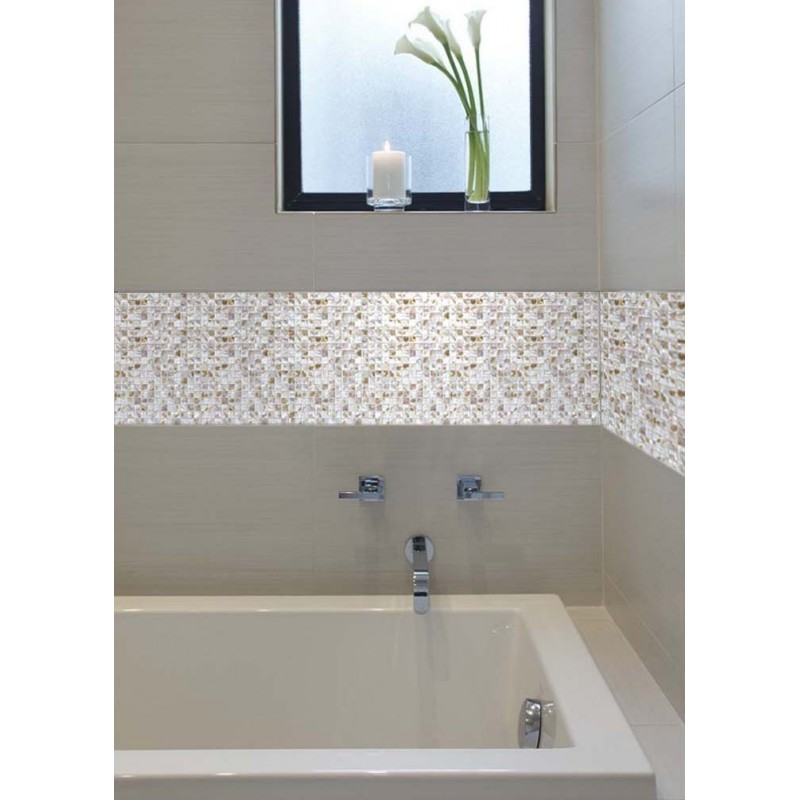 Fresh Water Mother Of Pearl Tile Square Shell Mosaic Shower Liner Wall Stickers Bath Wall Backsplash