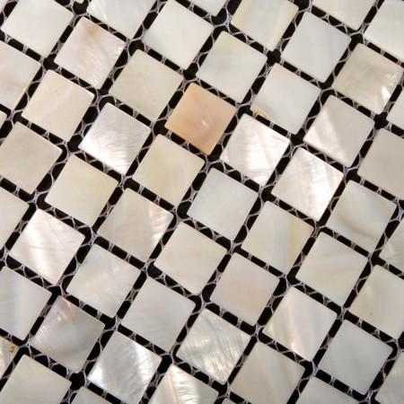 Mother of Pearl Tiles for Bathroom Liner Wall Square Shell Tile Kitchen Backsplash Seashell Mosaic