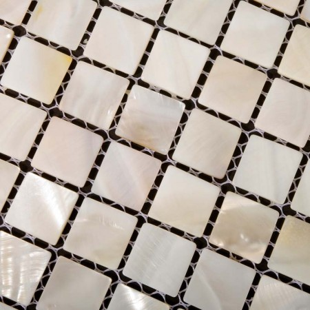 Mother of Pearl Tile Kitchen Backsplash Ideas Square Shell Mosaic Tiles Bathroom Wall and Floor Tile