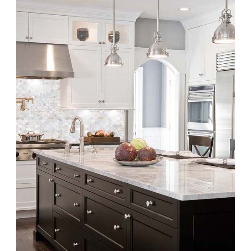 ... Natural White Mother Of Pearl Backsplash Ellipse Shell Mosaic Tile  Kitchen Ideas Bath Mirrored Wall ...