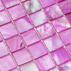 Stained shell tiles 100% rose red seashell mosaic mother of pearl tiles kitchen backsplash tile design BK016