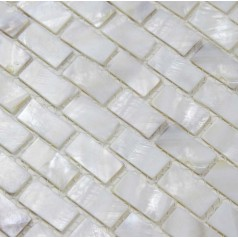 Mother of Pearl Tile Shower Liner Wall Backsplash White Strip Bathroom Shell Mosaic Tiles BK03