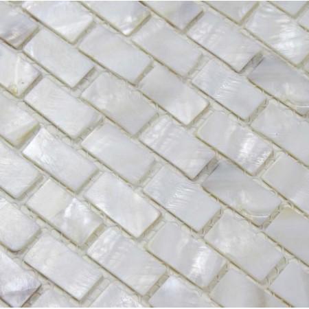 Mother of Pearl Tile Shower Liner Wall Backsplash White Strip Bathroom Shell Mosaic Tiles BK03