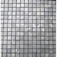 Mother of Pearl Tile Shower Liner Wall Backsplash White Square Bathroom Shell Mosaic Tiles MC-dh001