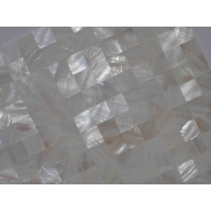 Mother of Pearl Tile Shower Liner Wall Backsplash White Square Bathroom Seamless Shell Mosaic Tiles MH-001
