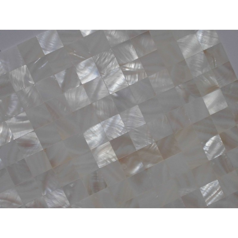 Mother Of Pearl Tile Shower Liner Wall Backsplash White Square Bathroom Seamless Shell Mosaic Tiles Mh 001
