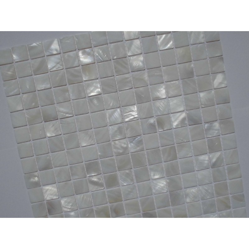 Mother Of Pearl Tile Shower Liner Wall Backsplash White Square - White square tile bathroom