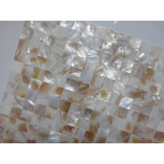 Mother of Pearl Tile Shower Liner Wall Backsplash Square Bathroom Shell Mosaic Tiles MH-006