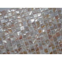 Mother of Pearl Tile Shower Liner Wall Backsplash White Square Bathroom Shell Mosaic Tiles MH-009