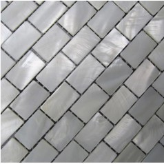 Mother of Pearl Tile Shower Wall Backsplash White Subway Bathroom Shell Mosaic Tiles Mc-005