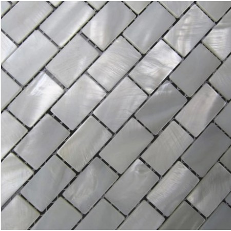 Mother of Pearl Tile Shower Wall Backsplash White Subway Bathroom Shell Mosaic Tiles Mc-005