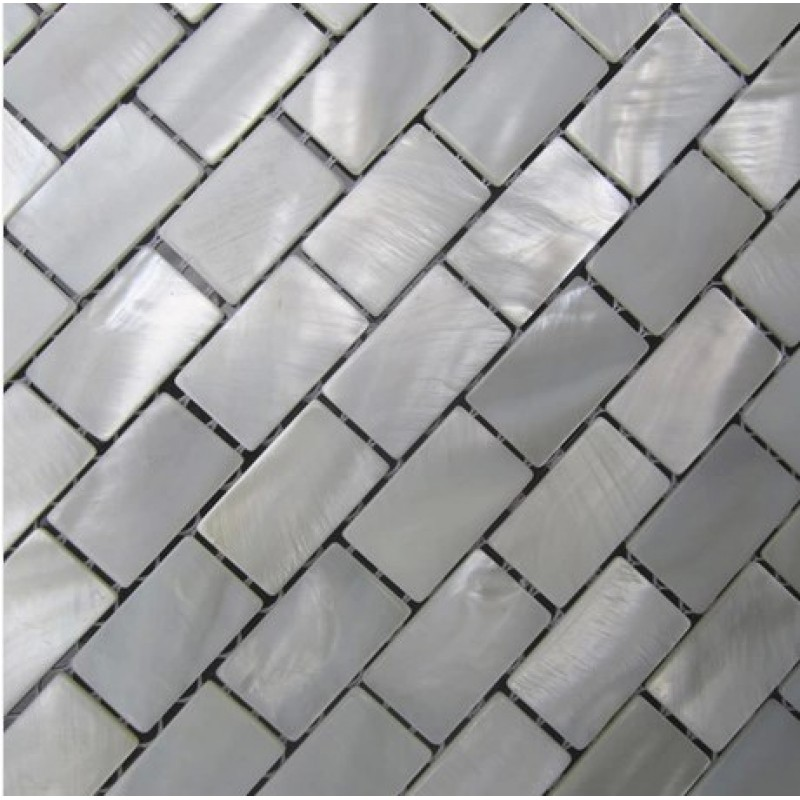 Mother Of Pearl Tile Shower Wall Backsplash White Subway Bathroom Shell  Mosaic Tiles Mc 005