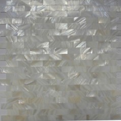 Mother of Pearl Tiles Kitchen Wall Backsplash White Subway Shell Mosaic Bathroom Tile Mc-005M