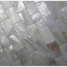 Mother of Pearl Tiles Kitchen Wall Backsplash White Subway Shell Mosaic Bathroom Tile Mc-008M