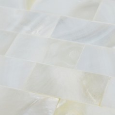 White shell tile mosaic wall tile tiling subway tile kitchen backsplash seamless mother of pearl tile sheets ST061