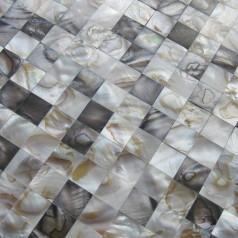 Mother of Pearl Tiles Wall Kitchen Backsplash Square Bathroom Shower Seamless Shell Mosaic Tiles WP-100