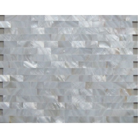 White Mother of Pearl Tiles Backsplash Uniform Bricks Subway Shell Kitchen Wall Tile Mosaics MSS308