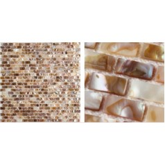 Shell Mosaic Tiles Natural Mother of Pearl Tile Backsplash Seashell Mosaics Pearl Wall Tile MB01