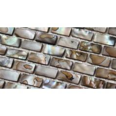 Shell Mosaic Tiles Black Mother of Pearl Tile Backsplash Seashell Mosaics Pearl Wall Tile MB03