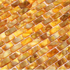 Shell Mosaic Tiles Gold Mother of Pearl Tile Backsplash Seashell Mosaics Pearl Wall Tile MB04