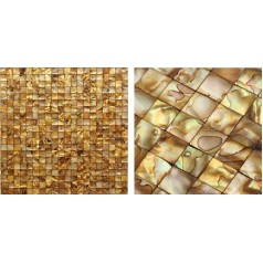 Shell Mosaic Tiles Cheap  Mother of Pearl Tile Backsplash Seashell Mosaics Pearl Wall Tile MB07