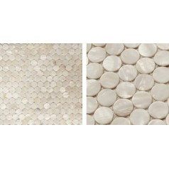 Shell Mosaic Tiles Cheap  Round Mother of Pearl Tile Backsplash Seashell Mosaic Pearl Tile MC01