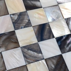 Shell Mosaic Tiles Black & White Mother of Pearl Tile Backsplash Seashell Mosaics Pearl Wall Tile