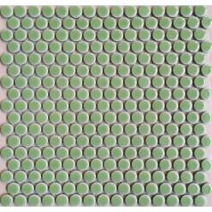 "Penny Round Tile Aqua Porcelain Floor Tiles 3/5"" Ceramic Mosaic Glossy Tile"