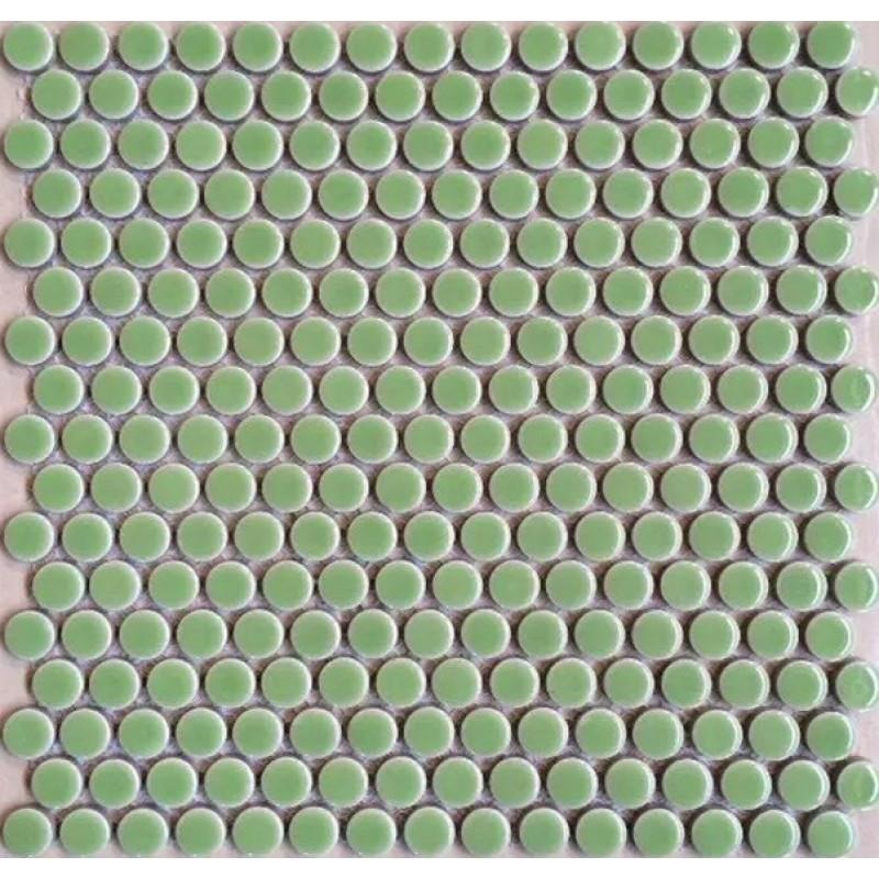 Penny Round Porcelain Aqua Tile