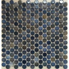"Penny Round Tile Glossy Porcelain Floor Tiles 3/5"" Ceramic Mosaic Backsplash"
