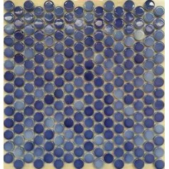 "Penny Round Tile Sea Blue Porcelain Floor Tiles 3/5"" Ceramic Mosaic Backsplash"