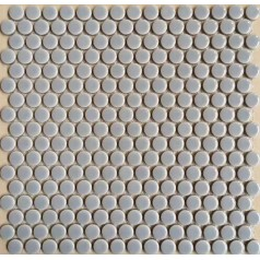 "Penny Round Tile White Porcelain Floor Tiles 3/5"" Ceramic Mosaic Backsplash"