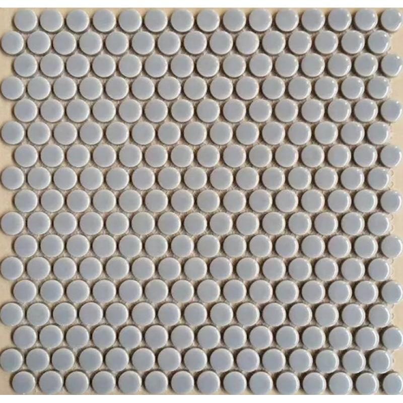 Penny Round Tile Backsplash: Penny Round Porcelain Grey Tile