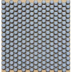 "Penny Round Tile Light Blue Porcelain Floor Tiles 3/5"" Ceramic Mosaic Backsplash"
