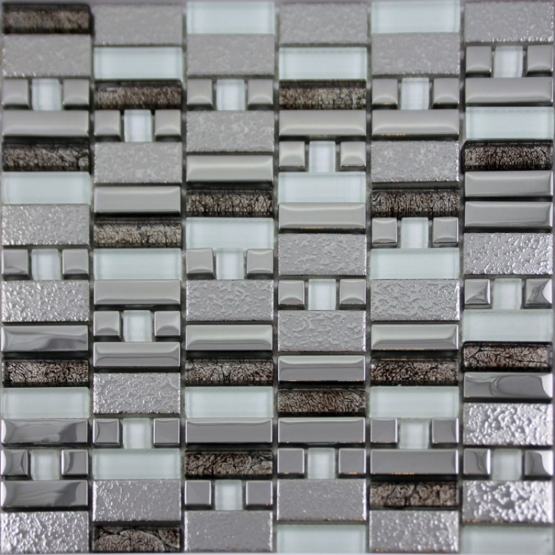 ... Glass Mosaic Tile Silver Plated Crystal Mosaics Bathroom Wall Stickers  Kitchen Backsplash Plated GDQ01