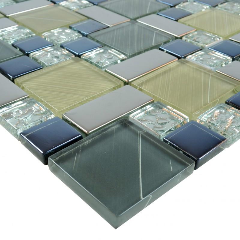 Sample Beige Cream Hand Painted Glass Pattern Mosaic Tile: Crystal Glass Tile Sheets Hand Painted Kitchen Backsplash