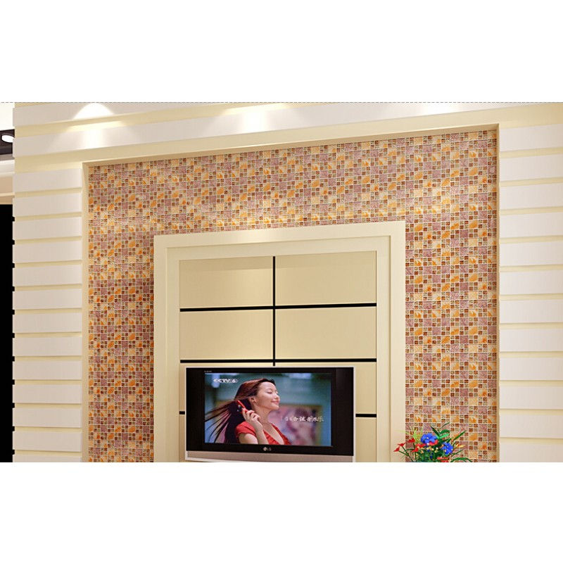 Crystal Glass Mosaic Tile Plated Glass Art Design Wall Tile Hall
