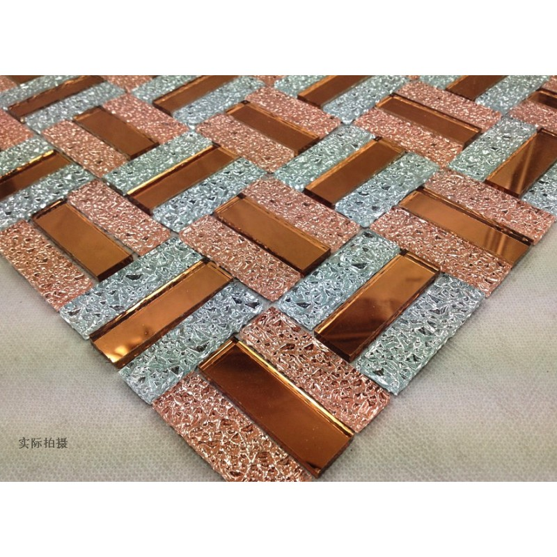 Crystal Mosaic Tile Sheets Bathroom Wall Mirror Tile Kitchen