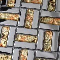 Crystal Mosaic Tile Sheets Plated Glass Wall Tiles Kitchen Backsplash Grid Glass Mosaics Bathroom Shower Tiles Designs