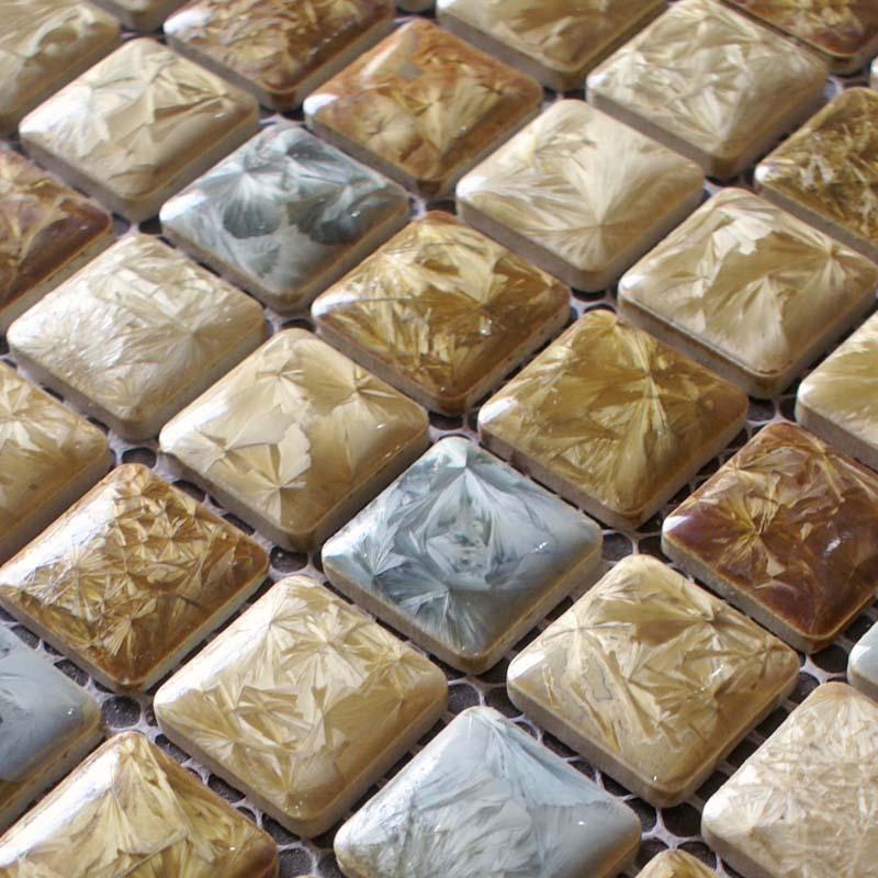 Search   yellow glass tile backsplash