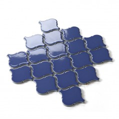 Waterjet Tiles Backsplash Dark Blue Porcelain Mosaic Tile Lantern Kitchen Wall Decor Design HCHT002