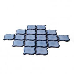 Blue Porcelain Mosaic Tile Waterjet Design Lantern Glazed Ceramic Kitchen Backsplash Tiles HCHT003